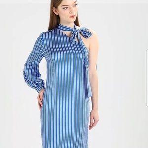Banana Republic one shoulder dress.